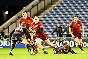Rory Scannell breaks with the ball during the Guinness Pro 14 2017_18 match between Edinburgh Rugby and Munster Rugby at Myreside Stadium, Edinburgh, Scotland on 16 March 2018. Picture by Kevin Murray.