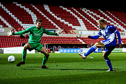 Kieran Phillips of Bristol Rovers shoots at goal - Mandatory by-line: Robbie Stephenson/JMP - 29/10/2019 - FOOTBALL - County Ground - Swindon, England - Swindon Town v Bristol Rovers - FA Youth Cup Round One