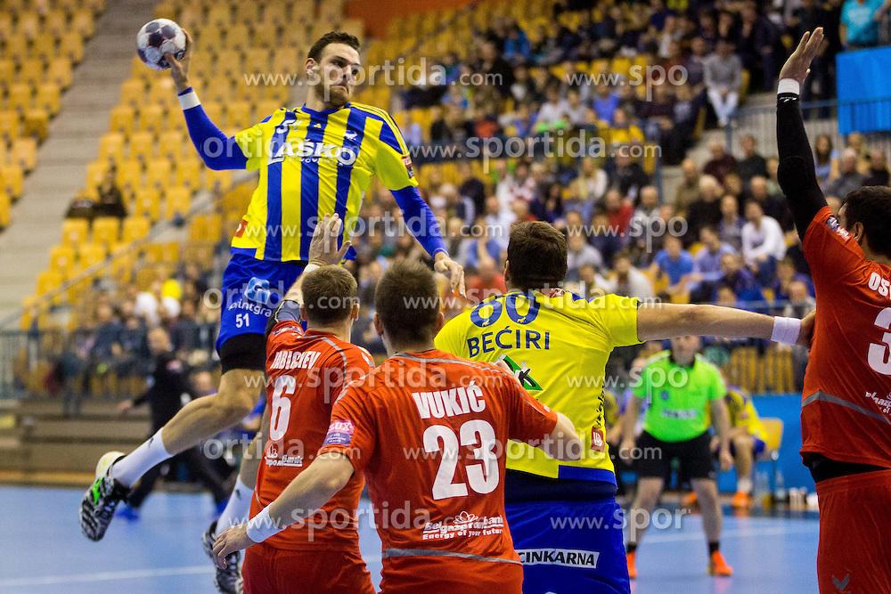 Borut Mackovsek of RK Celje Pivovarna Lasko during handball match between RK Celje Pivovarna Lasko (SLO) and HC Meshkov Brest (BLR) in Group phase of EHF Men's Champions League 2016/17, on November 27, 2016 in Arena Zlatorog, Celje, Slovenia. Photo by Ziga Zupan / Sportida