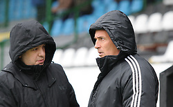 Darko Milanic (right), head coach of NK Maribor before football match between ND Mura 05 and NK Maribor in 21th Round of Slovenian First League PrvaLiga NZS 2012/13 on December 2, 2012 in Murska Sobota, Slovenia. (Photo By Ales Cipot / Sportida)