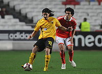 20091217: LISBON, PORTUGAL - SL Benfica vs AEK Athens: Europa League 2009/2010 - Group Stage. In picture: Roderick Miranda (Benfica) and Ismael Blanco (AEK Athens FC). PHOTO: Alvaro Isidoro/CITYFILES