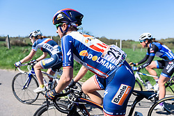 Megan Guarnier (Boels Dolmans) - Flèche Wallonne Femmes - a 137km road race from starting and finishing in Huy on April 20, 2016 in Liege, Belgium.