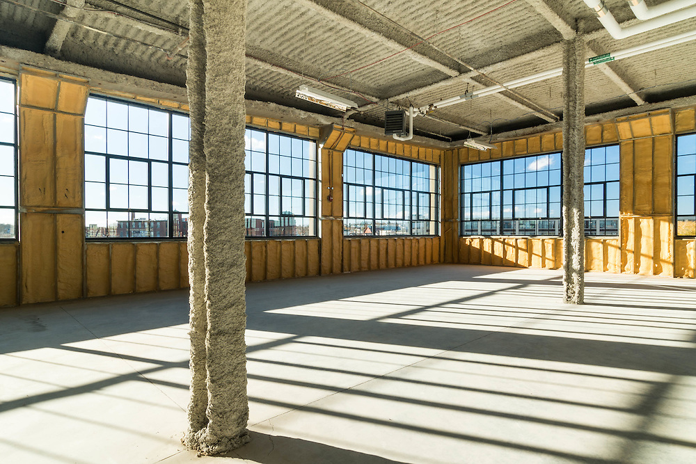 A mill building in Lowell, MA, being remade into office / lab space.