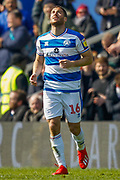 GOAL 2-0 Queens Park Rangers forward Tomer Hemed (16) scores and celebrates during the EFL Sky Bet Championship match between Queens Park Rangers and Swansea City at the Loftus Road Stadium, London, England on 13 April 2019.