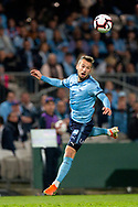 SYDNEY, AUSTRALIA - MAY 12: Sydney FC forward Adam Le Fondre (9) heads the ball at the Elimination Final of the Hyundai A-League Final Series soccer between Sydney FC and Melbourne Victory on May 12, 2019 at Netstrata Jubilee Stadium in Sydney, Australia. (Photo by Speed Media/Icon Sportswire)