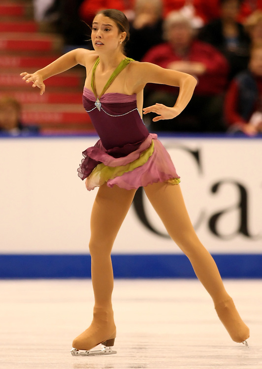 (Ottawa, ON---1 November 2008)  Alissa Czisny of the USA competes in the women's free skate at the 2008 HomeSense Skate Canada International figure skating competition. She finished third. Photograph copyright Sean Burges/Mundo Sport Images (www.msievents.com).