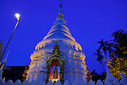 29 JUNE 2011 - CHIANG MAI, THAILAND: The main chedi of Wat Ubokut in Chiang Mai, Thailand. Wat Ubokut is one of more than 200 Buddhist temples in the Chiang Mai city limits.  PHOTO BY JACK KURTZ