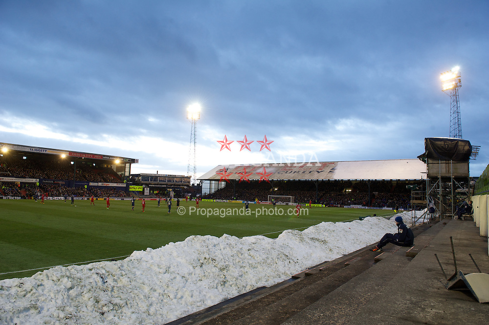 OLDHAM, ENGLAND - Sunday, January 27, 2013: Liverpool take on Oldham Athletic during the FA Cup 4th Round match at Boundary Park. (Pic by David Rawcliffe/Propaganda)