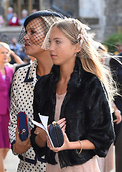 Kate Moss and Lila Grace Moss for the wedding of Princess Eugenie to Jack Brooksbank at St George's Chapel in Windsor Castle