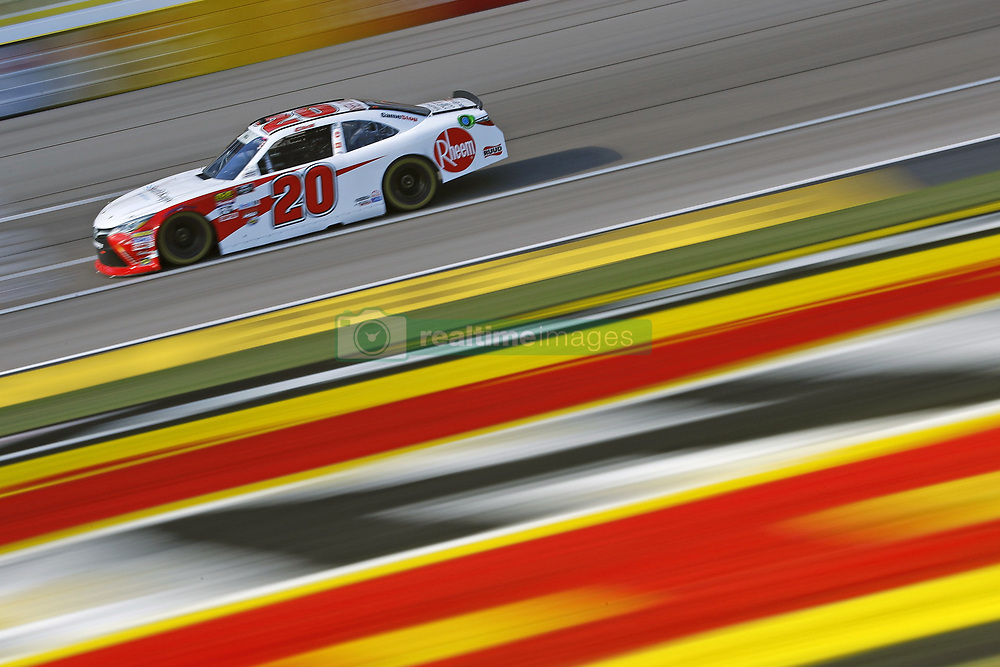 March 2, 2018 - Las Vegas, Nevada, United States of America - March 02, 2018 - Las Vegas, Nevada, USA: Christopher Bell (20) brings his race car down the front stretch during practice for the Boyd Gaming 300 at Las Vegas Motor Speedway in Las Vegas, Nevada. (Credit Image: © Chris Owens Asp Inc/ASP via ZUMA Wire)