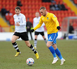 Bristol Rovers' Adam Dawson  - Photo mandatory by-line: Neil Brookman/JMP - Mobile: 07966 386802 - 28/02/2015 - SPORT - Football - Gateshead - Gateshead International Stadium - Gateshead v Bristol Rovers - Vanarama Football Conference