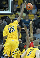January 07, 2011: Iowa Hawkeyes forward Devon Archie (35) blocks a shot by Ohio State Buckeyes forward J.D. Weatherspoon (15) during the the NCAA basketball game between the Ohio State Buckeyes and the Iowa Hawkeyes at Carver-Hawkeye Arena in Iowa City, Iowa on Saturday, January 7, 2012.