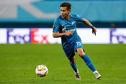 October 4, 2018 - Saint Petersburg, Russia - Elmir Nabiullin of FC Zenit Saint Petersburg in action during the Group C match of the UEFA Europa League between FC Zenit Saint Petersburg and SK Sparta Prague at Saint Petersburg Stadium on October 4, 2018 in Saint Petersburg, Russia. (Credit Image: © Mike Kireev/NurPhoto/ZUMA Press)