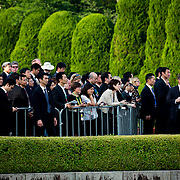 HIROSHIMA, JAPAN - MAY 27 : Members of press waiting for U.S President Barack Obama and Prime Minister Shinzo Abe during the historic visit of U.S President in Hiroshima Peace Memorial Park in Hiroshima, Japan on May 27, 2016. US President Barack Obama is the first American president to visit Hiroshima after United States of America dropped Atomic bomb in Hiroshima on August 6, 1945.<br /> <br /> Photo: Richard Atrero de Guzman<br /> <br />  <br /> <br /> <br /> <br /> <br /> <br /> Photo: Richard Atrero de Guzman