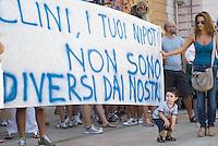 Manifestazione a Taranto indetta a seguito del provvedimento di sequestro dell'area a caldo di ILVA - agosto 2012