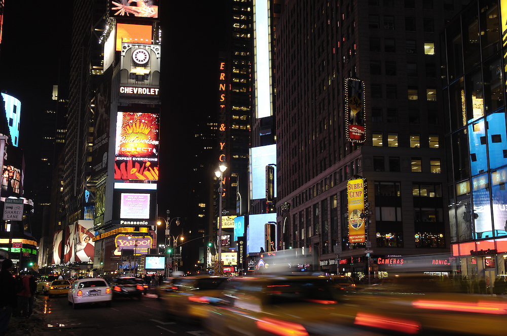Times Square at night. NYC.