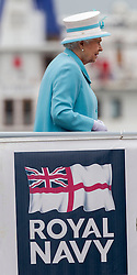 The Queen visiting HMS Lancaster in Portsmouth, United Kingdom, Tuesday, 20th May 2014. Picture by  i-Images