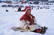 Samis (lap people) Fishing contest on a frozen lake in Kautokeino  Lapland  Norway        Les Samis (lapons); partie de pêche sur le lac gelé de Kautokeino  Laponie,   Norvege       L004772  /  R00330  /  P111318