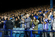 Fans of Sheffield Wednesday celebrate the goal of Kadeem Harris of Sheffield Wednesday during the EFL Sky Bet Championship match between Sheffield Wednesday and Luton Town at Hillsborough, Sheffield, England on 20 August 2019.