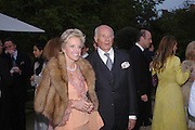 Prince Marescotti Ruspoli and Princess Ruspoli. Cartier dinner after thecharity preview of the Chelsea Flower show. Chelsea Physic Garden. 23 May 2005. ONE TIME USE ONLY - DO NOT ARCHIVE  © Copyright Photograph by Dafydd Jones 66 Stockwell Park Rd. London SW9 0DA Tel 020 7733 0108 www.dafjones.com