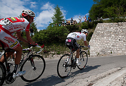Patrik Sinkewitz (GER) of Maridiana Kamen and Jan Polanc (SLO) of Radenska during Stage 3 from Skofja Loka to Vrsic (170 km) of cycling race 20th Tour de Slovenie 2013,  on June 15, 2013 in Slovenia. (Photo By Vid Ponikvar / Sportida)
