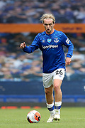 Everton midfielder Tom Davies (26) during the Premier League match between Everton and Bournemouth at Goodison Park, Liverpool, England on 26 July 2020.