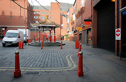 UK ENGLAND LONDON 25DEC04 - Deserted streets Chinatown in London's Soho district in the early morning hours...jre/Photo by Jiri Rezac ..© Jiri Rezac 2004..Contact: +44 (0) 7050 110 417.Mobile: +44 (0) 7801 337 683.Office: +44 (0) 20 8968 9635..Email: jiri@jirirezac.com.Web: www.jirirezac.com..© All images Jiri Rezac 2004 - All rights reserved.