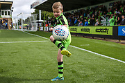 Mascot having a pre match kick around during the EFL Sky Bet League 2 match between Forest Green Rovers and Exeter City at the New Lawn, Forest Green, United Kingdom on 9 September 2017. Photo by Shane Healey.