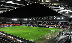 General view of the Liberty Stadium- Mandatory by-line: Nizaam Jones/JMP - 27/02/2018 - FOOTBALL - Liberty Stadium - Swansea, Wales-Swansea City v Sheffield Wednesday - Emirates FA Cup fifth round proper