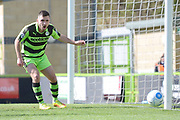 Forest Green Rovers midfielder Jake Gosling (31) attempt goes just wide  during the Vanarama National League match between Forest Green Rovers and North Ferriby United at the New Lawn, Forest Green, United Kingdom on 1 April 2017. Photo by Alan Franklin.