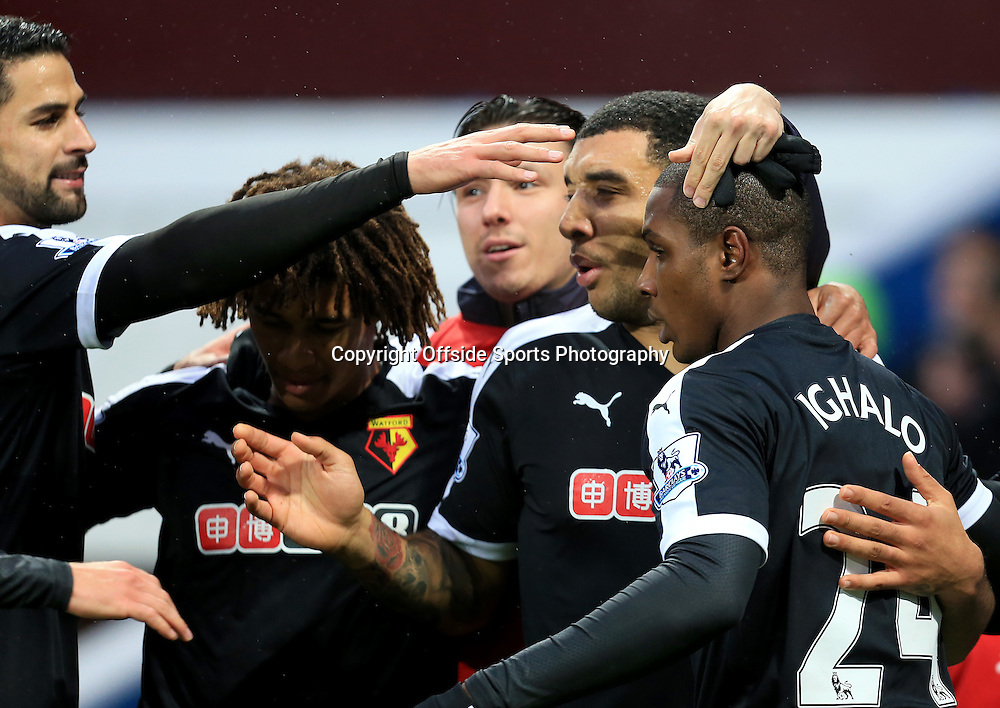 28th November 2015 - Barclays Premier League - Aston Villa v Watford - Odion Ighalo of Watford celebrates the opening goal (0-1) - Photo: Paul Roberts / Offside.
