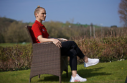 CARDIFF, WALES - Monday, April 1, 2019: Wales' Jessica Fishlock during a media session at the Vale Resort ahead of a friendly against the Czech Republic. (Pic by David Rawcliffe/Propaganda)
