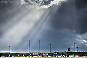 Great day for rugby league during the Kingstone Press Championship match between Dewsbury Rams and Bradford Bulls at the Tetley's Stadium, Dewsbury, United Kingdom on 10 September 2017. Photo by Simon Davies.