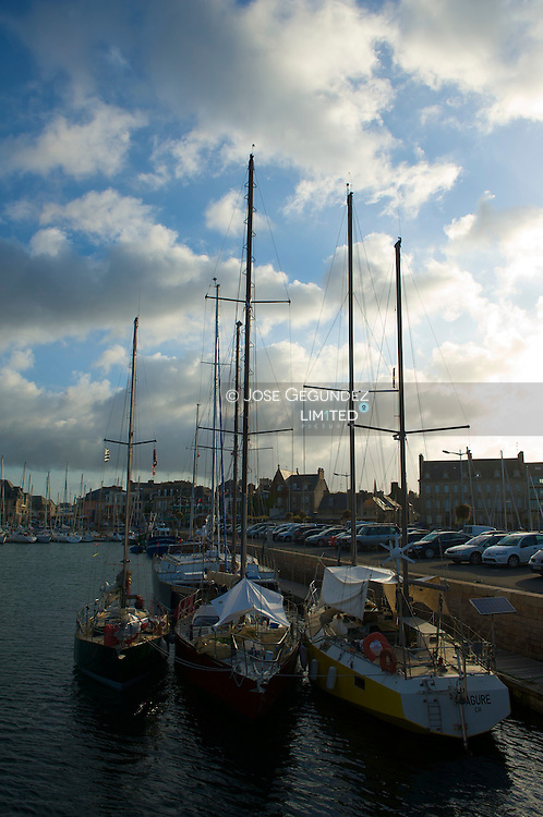 Boats and yatches in Paimpol (Brittany)