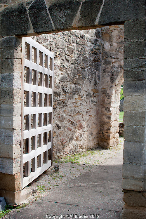 Main Gate to Mission San Juan Capistrano, San Antonio, TX.