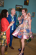 LYNDSEY GIBB; DAVID MACH; GRAYSON PERRY, Royal Academy Summer Exhibition party. Burlington House. Piccadilly. London. 6 June 2018