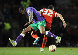 Bristol City's Mark Little jostles for the ball with Leyton Orient's Andrea Dossena  - Photo mandatory by-line: Dougie Allward/JMP - Mobile: 07966 386802 - 03/03/2015 - SPORT - football - Leyton - Brisbane Road - Leyton Orient v Bristol City - Sky Bet League One