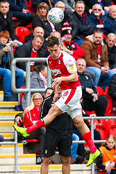Billy Jones of Rotherham United heads the ball - Mandatory by-line: Ryan Crockett/JMP - 05/05/2019 - FOOTBALL - Aesseal New York Stadium - Rotherham, England - Rotherham United v Middlesbrough - Sky Bet Championship