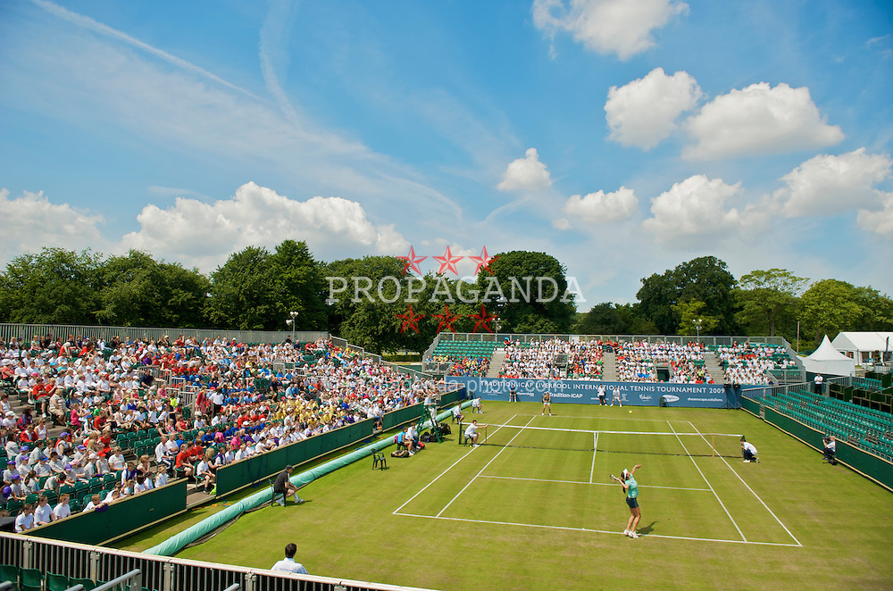 LIVERPOOL, ENGLAND - Tuesday, June 16, 2009: Players take part in an exhibition match on a special Kids Day at the Tradition ICAP Liverpool International Tennis Tournament 2009 at Calderstones Park. (Pic by David Rawcliffe/Propaganda)