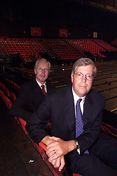 L to R  Nigel Potter CEO and Claes Hultman, Chairman, August 7, 2000. Photo by Andrew Parsons/i-Images.
