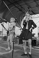 Ari Up, vocals and Viv Albertine, guitar. The Slits, Alexandra Palace, London 15-06-1980
