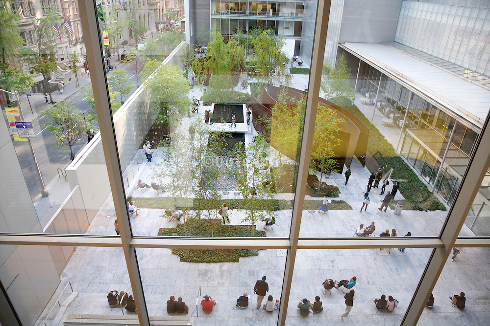 garden at the museum of Modern Art in New York