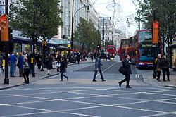 UK ENGLAND LONDON 23NOV11 - Street scene on busy Oxford Street outside the House of Fraser in the West End, central London.....jre/Photo by Jiri Rezac....© Jiri Rezac 2011