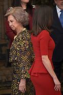 031520 Queen Letizia of Spain and Queen Sofia of Spain