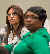 Houston ISD leaders learn about the PowerUp Hub during the Summer Leadership Institute at Reliant Center, June 19, 2014.