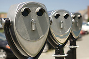 Coin-operated binoculars overlook the Atlantic Ocean, Chatham, Massachusetts.