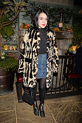 Ella Catliff at The Ivy Chelsea Garden's Guy Fawkes Party, 197 King's Road, London, England. 05 November 2017.