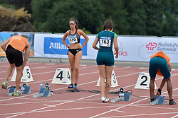 04/08/2017; Brown, Larissa, T12, CAN, Ferreira, Gabriela, BRA at 2017 World Para Athletics Junior Championships, Nottwil, Switzerland