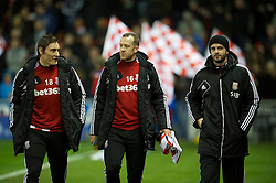 STOKE-ON-TRENT, ENGLAND - Boxing Day Wednesday, December 26, 2012: Stoke City's substitute Charlie Adam before the Premiership match against Liverpool at the Britannia Stadium. (Pic by David Rawcliffe/Propaganda)