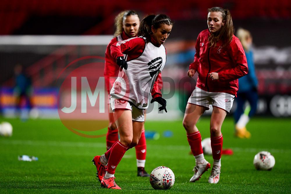 Bristol City Women warm up prior to kick off - Mandatory by-line: Ryan Hiscott/JMP - 17/02/2020 - FOOTBALL - Ashton Gate Stadium - Bristol, England - Bristol City Women v Everton Women - Women's FA Cup fifth round